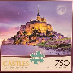 """Castles """"Mont Saint Michel, France"""" Puzzle"""